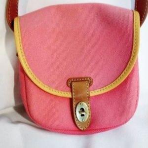 FOSSIL canvas leather messenger shoulder bag